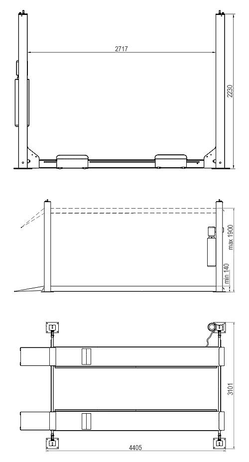 4 Post Hoist Standard Model