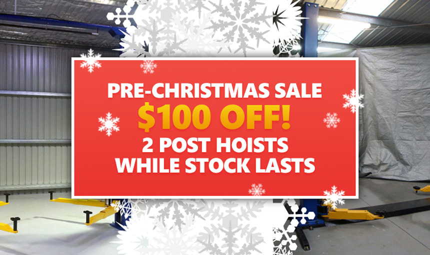 Pre-Christmas Sale On 2 Post Hoists!