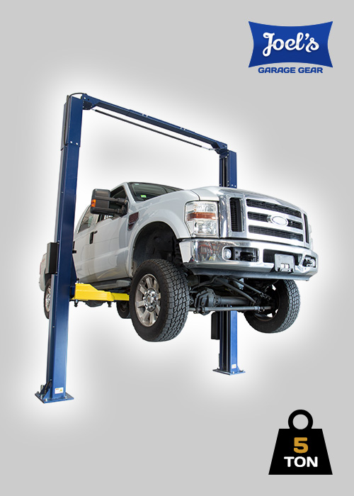 2 Post Hoist – 5 Ton – Clear Floor Model