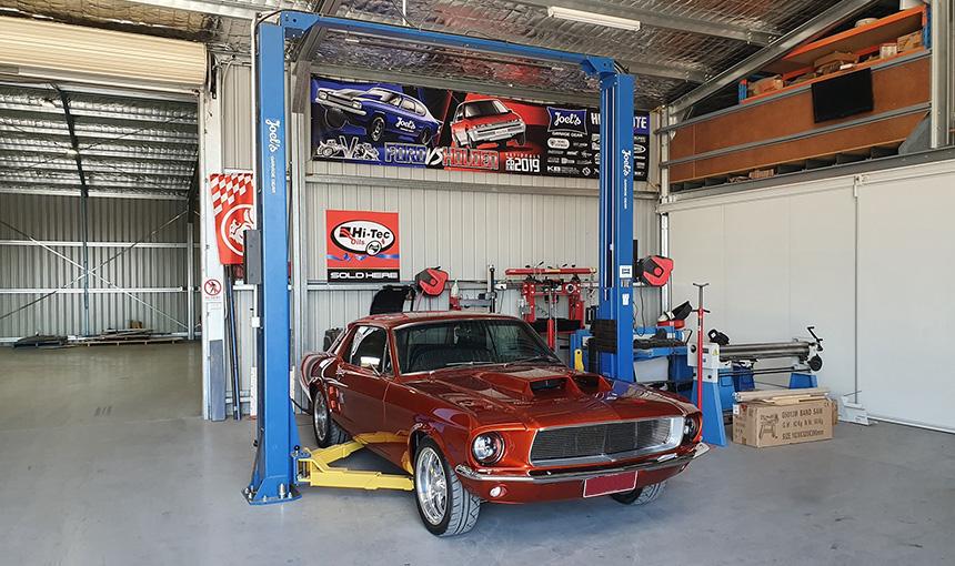 Joels Garage Gear Hoist Installer Application