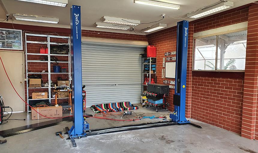 Installing a car hoist at home - Step 11