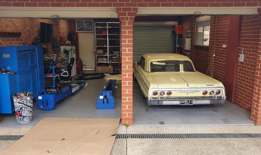 Installing a car hoist at home - Step 6